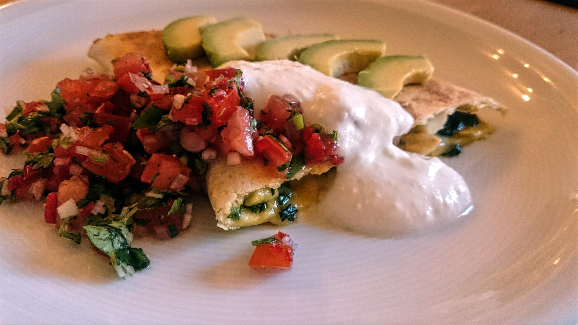Aufgetischt: Hähnchen-Spinat-Quesadilla