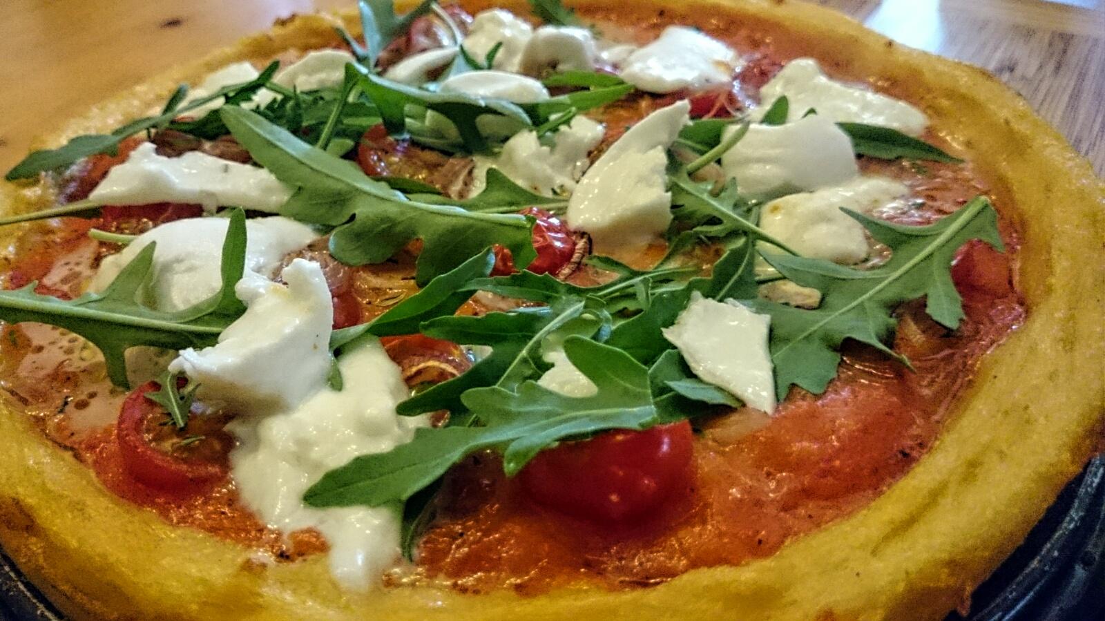 Aufgetischt: Polenta-Pizza